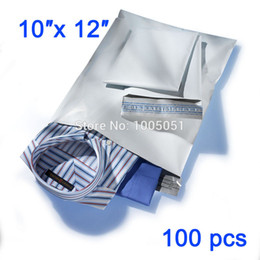 """Wholesale Self Adhesive Poly Bags - Wholesale-10""""X12"""" 100 Pcs White Self Adhesive Seal Postal Bags Opaque Package Envelopes Shipping Strong Poly Mailer Bags Post"""