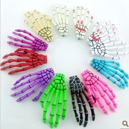 Wholesale Hairpin Bobby - Skeleton Claws Skull Hand Hair Clip Hairpin Zombie Punk Horror Bobby Pin Barrettes hair clip