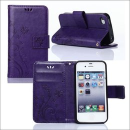 Wholesale I Phone Leather Wallet - new pu leather case for iphone i 4 4G 4S cell phone wallet case with card slot