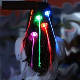 Wholesale Ligth Blue - Colorful Glowing Flash LED light Hair Braid Clip Hairpin Decoration Ligth Up Show Wedding Celebration Party Bar Decoration 100pcs lot