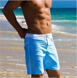 Wholesale Surf Board S - Mens Beach Shorts Sports Casual Short For Man Sea New Swimming Shorts Surf Board Wear Boxer Basketball Running free shipping