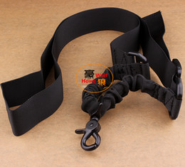 Wholesale Tactical One Point Sling - Tactical Rifle Gun 1 One Single Point Bungee Sling System Army Green Adjustable