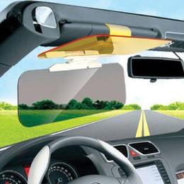 Wholesale Mirrored Visor - Free Shipping New Car Sunshade Goggles Auto Sunglasses Shield Flip Sun Visor Anti-Glare Visor Prevent Dazzle Mirror Day & Night
