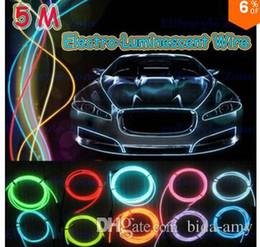 Vente en gros-5M / lot flexible néon léger EL fils électroluminescents électroluminescents avec contrôleur de décoration de voiture pour Tesla Ford Lada ? partir de fabricateur