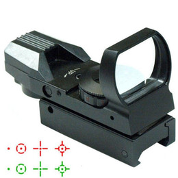 Wholesale Tactical Reticle Sight - 2015 hot Holographic 4 Reticle Red Green Dot Tactical Reflex Sight Scope with Mount for Gun 33mm VE011 SYSR