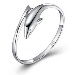 Wholesale Wholesale Seiko - 925 Silver Ring Creative Couple Ring,Romantic Love,Seiko quality, Free Shipping!!! Rings Fashion, Lovers Rings, Dolphins Love