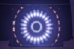 Wholesale Led Backdrops Curtain - 2017 new Free shipping P3 1x2m pc led vision curtain 2048 leds led video curtain RGB for stage backdrop decoration wedding