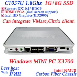 Wholesale Cheapest Ssd - Wholesale-2015 cheapest Windows Mini PC X3700 with integrate VMare Citrix client support 16 times as regular HDMI players 1G RAM 8G SSD