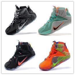 Wholesale Big Prints Canvas - 2017 LeBRon 12 Elite Big dunk James Top Quailty lebron basketball shoe Arrival LBJ XII Sneakers 12s High Cut Mens Casual Shoes