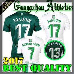 Wholesale M Homes - Thai quality 2017 2018 Real Betis home Soccer Jersey JOAQUIN VAN DER VAART RUBEN CASTRO 17 18 home away Football Shirts Camiseta de futb