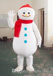 Wholesale Adult Mascot Christmas - Factory direct sale Frosty Snowman Mascot Costumes Walking Adult Size Snow Man Cartoon Clothing Christmas Party Dress Free Shipping