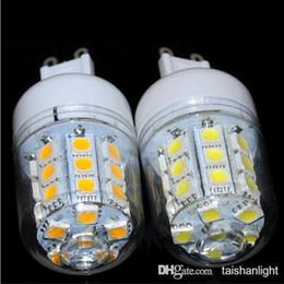 Wholesale E 27 Bulbs - Wholesale-e27 LED lamp 5050 SMD 30LED E 27 Corn Bulb Light Ultral bright 220V E27 SMD 5050Water proof Warm white white 7W