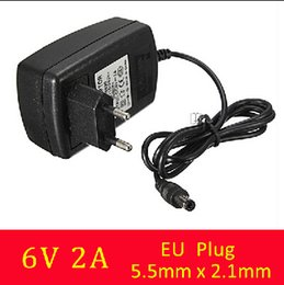 Wholesale 6v 2a Power Supply - Best Price High Quality AC 100-240V to For DC 6V 2A 2000mA Switching Power Supply Adapter Charger EU Plug