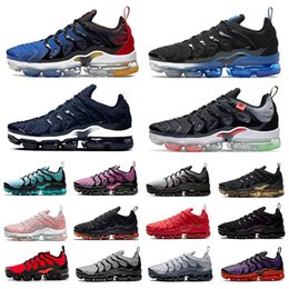Triple briquet en Ligne-Vapormax Plus tn Chaussures de course pour hommes Noir royal dans le monde entier Sunset Atlanta Neon Triple Red blanc Cherry Light bone hommes femmes formateurs baskets de sport