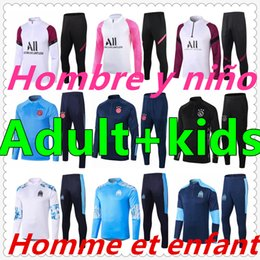 2021 tuta ajax tuta Ajax Marseille Paris Saint-Germain olympique de marseille ajax mens tracksuit 2020 2021 kids soccer tracksuit training survetement foot jersey football jerseys