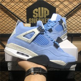 2021 zapatos azules frescos Top Quality Jumpman 4S Mens Shoes de baloncesto Kaws Crema Sail Union Guayava Ice University Blue Black Cat Cool Gris Metallic Purple Cactus Jack Deporte Trainer Sneaker