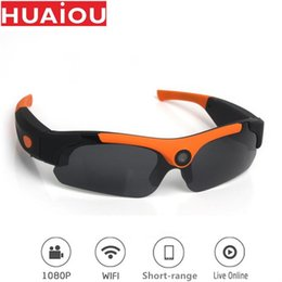 Sonnenbrille entfernt online-Mini WIFI Sunglass Camera 120 Degree Sports Camcorder Motion Remote DV Monitor IP For Outdoor Cycling Running Cameras