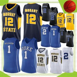 Jerseys duque on-line-12 JA Morant Murray State College Basketball Jerseys NCAA 1 Zion Williamson Duke Blue Devils RJ 5 Barrett 2 Reddis J.J 4 Redons 32 Laettner