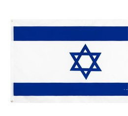 2021 bandiere israeliane Israele Bandiera nazionale per la decorazione Retail Direct Factory Commercio all'ingrosso 3x5ft 90x150cm Banner in poliestere Uso all'aperto per uso interno HWE6182
