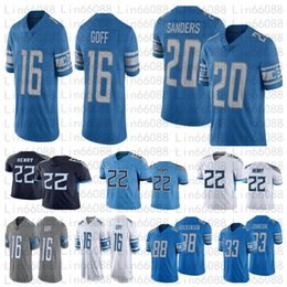 Derrick henry jersey on-line-Homens 22 Derrick Henry 20 Barry Sanders Matthew Stafford Hockenson Kerryon Johnson Football Jerseys