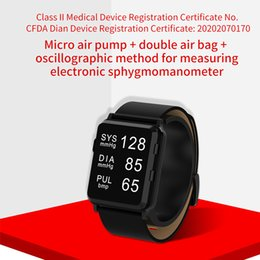 Relógio de pulso de saúde inteligente ? venda-New Medical CFDA Pulso Relógio Micro Air Bomba Dupla Air Bag Sphygmomanômetro Frequência Cardíaca Pedopmeter Smart Watch para Elder Health Care Watch
