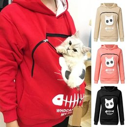 2021 t shirt kangourou  Sweat-shirt Chat Amoureux de chat Sweat à capuche Kangaroo Dog Drop Pull Pullovers Cuddle Pouch Poche Chape à capuche et Sweats à capuche pour femmes Sweatshirts