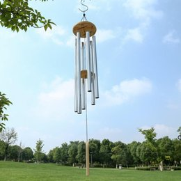 2021 artisanat antique Grace profonde Resonant Home antique en bois en bois 6 tube WindCheme Chapelle Bells Wind Churic Chimes Ornement Artisanat Cadeau DHA4853