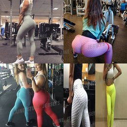 2021 sexy pantalons de yoga femmes Femmes Honeycombe Leggings Sport Fitness Push Up Sexy Pantalon de Yoga Casual Taille haute taille Plus Taille Leggings Vêtements de séance d'entraînement pour yoga
