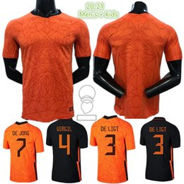 Holland jerseys online-Memphis 2021 Niederlande Fussball Jerseys de Jong Holland Strootman van Dijk Virgil 2022 Football Jersey Erwachsene Männer + Kids Kit