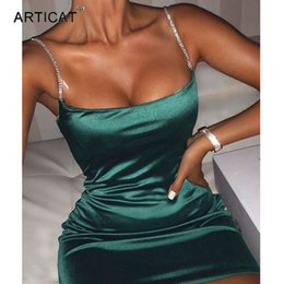 Diamants ny en Ligne-Articat Sicide Satin Diamond Strap RUCHED FEMME FEMME Collier carré NY Mini Drs élégant Backls Party Clubwear Hot