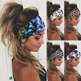 bande di capelli sportivi uomini Sconti Tie Dye Cycling Yoga Sport Sport Sport Fascia Donne Sweatband For Men Donne Yoga Hair Bands Head Sweat Bands Sicurezza Sicurezza 1299 Z2