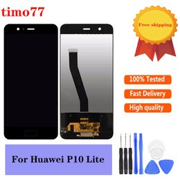 lcd digitizer touchscreen tester Rabatt OEM Hohe Qualität für Huawei P10 Lite LCD Display Touch Panels Screen Digitizer Montage Test strikt