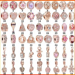 2021 branello clip in oro pandora S925 Sterling Silver Rose Branelli in oro rosa Pandora Braccialetto Femmina Female Fixing Fixing Clip Cat Eye Crown cuore Pendente aderente perlina