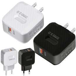 Adapter für iphone 8 plus online-Schnellladung EU US QC3.0 USB-Wandladegerät Power-Adapter für iPhone 7 8 plus 11 12 Samsung HTC Android-Telefon-PC