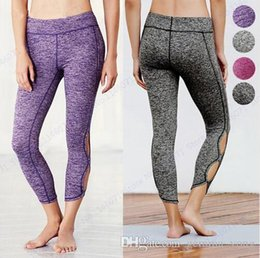 Pantaloni di yoga grigio online-Grigio Movimento Infinity Yoga Leggings Rose Red Professional Ballet Dance Pants Purple High Waist Fitness Gym Skinny Tights Womens