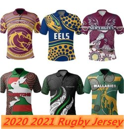 Magliette da rugby casuali online-2021 North Queensland Cowboys Polo Shirts Casual Wear Rugby Jersey League Jerseys Australia Top Quality