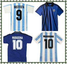 t shirts mots Promotion Argentine 1994 86 Word Cup Soccer Jerseys Rétro 98 78 Jersey Vintage Shirts 10 #diego Maradona 7 # Claudio Caniggia 9 # Gabriel Batistuta Football