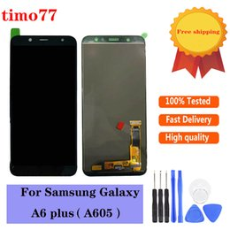 2021 lcd digitizer touchscreen tester A6 Plus Touch Panels 6.0 '' für Samsung Galaxy A605F A605FN A605 LCD Display Screen Digitizer Assembly Ersatz Incell Test streng mit Werkzeugen