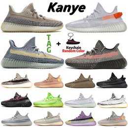 scarpe da ginnastica Sconti Yeezy 350 V2 Kanye mens running Shoes Asriel Israfil Cinder Earth Cid Clay Zebra Yecheil Static Reflective women Sports trainers Sneakers