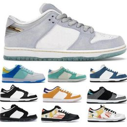 2021 atmos en céramique SB Dunk Basketball Chaussures Low Kasina Raygun Sean Cliver Côte Pigeon Ceramic Atmos Elephant Chicago Blanc Sneaker 2021 Hommes Femmes Tenis Trainer authentique