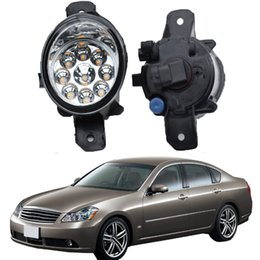 Nissan drl online-2pcs per Nissan Fuga 2004 Car Styling Led Bianco Giallo Fendinebbia Fendinebbia DRL RIFIT