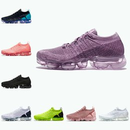 Max schuhe heiß online-Nike Air Max Vapormax 2.0 Shoes New airmax flyknit Verkauf 2021 billig 2.0 Strick 3,0 Herren Laufschuhe MOC Hot Punch Cinder Triple Black White Grau Volt Safari