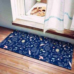 UK Rainbow Stripes Floor Mat Thick Flannel Living Room Carpet Floor Mat Door Mat