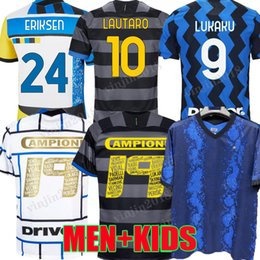 2021 milan kit Inter 2020 2021 2022 Jersey de fútbol Campioni 19 Lukaku Milan Vidal Barella Lautaro Eriksen Hakimi 21 22 I M Scudetto Football Shirt Uniforms Men + Kids Kit 4to cuarto