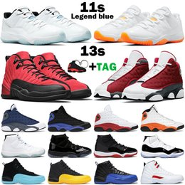Sequin viola scuro online-2021 Scarpe da basket da uomo 11 Jubilee 25th Anniversary Bred Concord Dark 11s Reverse Flu Game University Gold 12s Red Flint Black Hyper Royal 13s donna sneakers da uomo