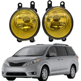 2021 toyota levou drl circulação diurna luz 2Pcs LED For Toyota Sienna 2011-2014 Round Front Right Left Fog Light Lamp DRL Daytime Driving Running Lights