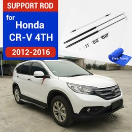 Auto gas. online-Ammortizzatori Assorberi Strut Bar per Honda CRV CR-V 2011-2016 4th Car Bonnet Hood Hood Ascensore Supporto Supporto Supporto Asta Styling Accessori
