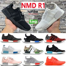 Triple briquet en Ligne-2021 Mens Womens Running Shoes NMD R1 core triple white black mesh tokyo blue glow Vapour Pink Light Onix Sneakers 36-46