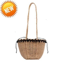 2021 diseñador de bolsas de playa al por mayor Wholesale diseñador bolso correas Crossbody celular S Tote Beach S Fashion Shopping String High Capítulo Crochet Excelente calidad