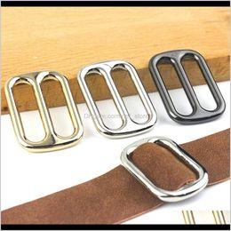 Black Belt Buckle 10pcs 22mm Metal Adjuster Buckle Tri Bar Buckles Strap Buckle Adjuster Slider  Bag Making Accessories